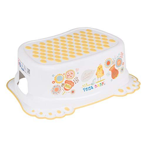 Tega Baby ® Marchepied pour enfant Toilettes formation enfants Potty antidérapant de sécurité bébé   Marche pieds   à partir de 3 ans environ   Unisexe Pour enfant, Motif:Folk - blanc
