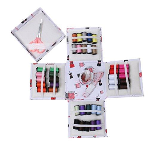 dailymall Faltbare Box Faden Einfädler Nadel Maßband Scherentasche Set Sewing Kit