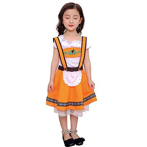 Metermall bier kleding kinderen meisje jongen Oktoberfest serveerster kostuum bier festival pak