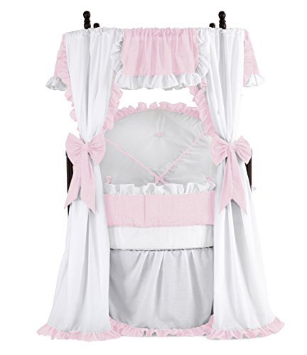 Baby Doll Bedding Darling Round Crib Set, Pink