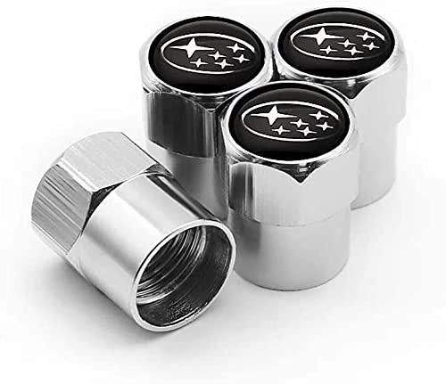 4 Piezas TapóN Polvo Metal Coche De La De NeumáTicos para Subaru Forester Outback Impreza LEGACY LEVORG XV BRZ WR, De VáLvula Con Logo, DecoracióN Accesorio, Llanta Anti-Robo Cubierta