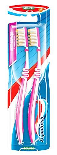 Aquafresh, set di 2 spazzolini da denti Inter Spaces, morbidi