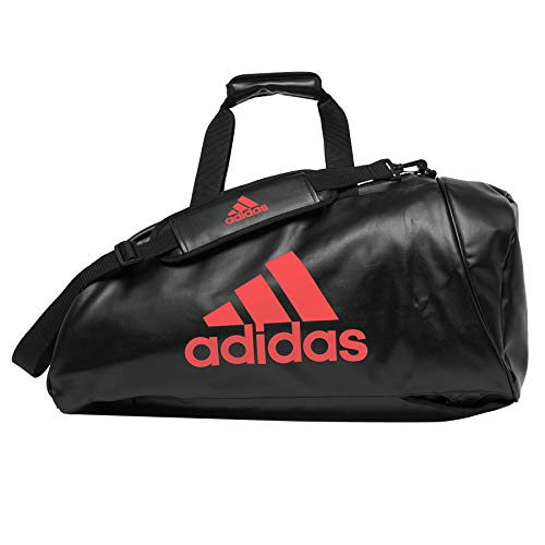 Adidas Convertible Sports Bag Black and Red, black / red, L
