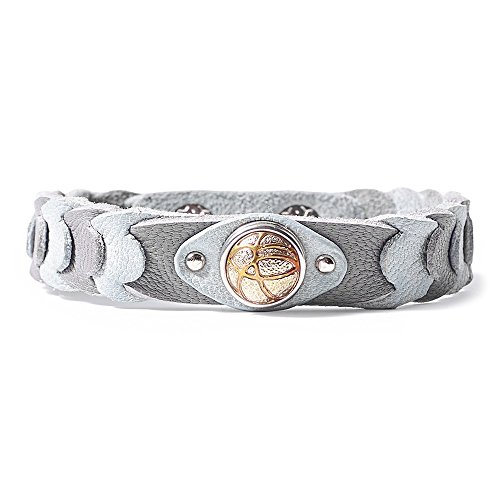 Noosa Petite Wabi Sabi Armband Life Cycle ohne Chunk grey (grau), Größe:S