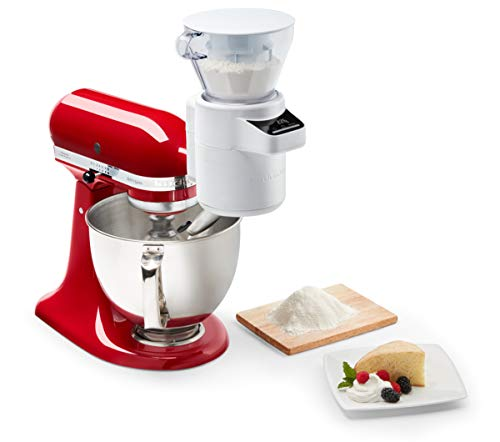 KitchenAid 5KSMSFTA Sieb mit digitaler Waage, Stainless Steel, White