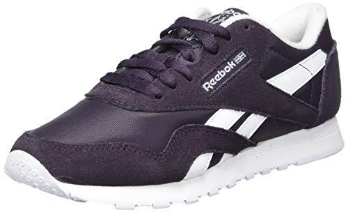 Reebok Damen Classic Nylon Sneaker, Midnight Shadow/White/White, 42.5 EU