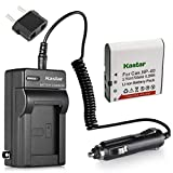 Kastar CNP-40 Battery (1-Pack) and Charger Kit for Kodak LB-060 AZ521 AZ361 AZ501 AZ522 AZ362 AZ526, HP D3500 SKL-60 V5060H V5061U Cameras and SUN06 YCO6 Full HD Portable Camcorders