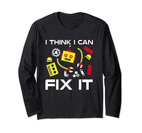 Fix It Robot Repair   Fun Robot Battle Mechanic & Programmer Langarmshirt