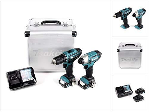Makita Cordless Kit DF331D Impact Wrench TD110D 10.8V 1.5Ah (CLX201X), 16.2 W, 10.8 V