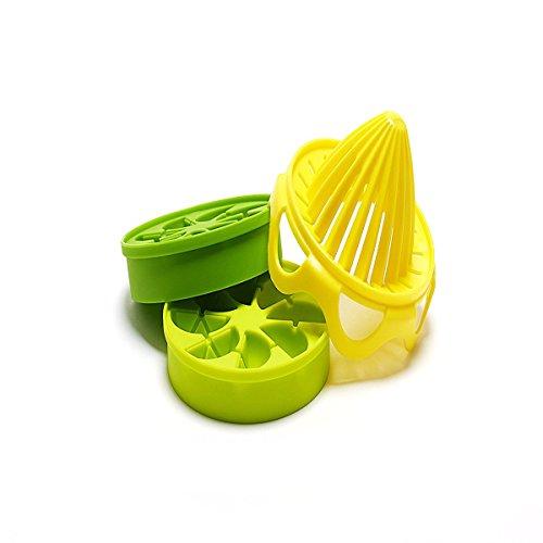 FATO. Manueller Entsafter 5-teilig 1 Set mit Eis-Behälter-Messbechern Lemon Squeezer orange Silikon-Eis-Gitter