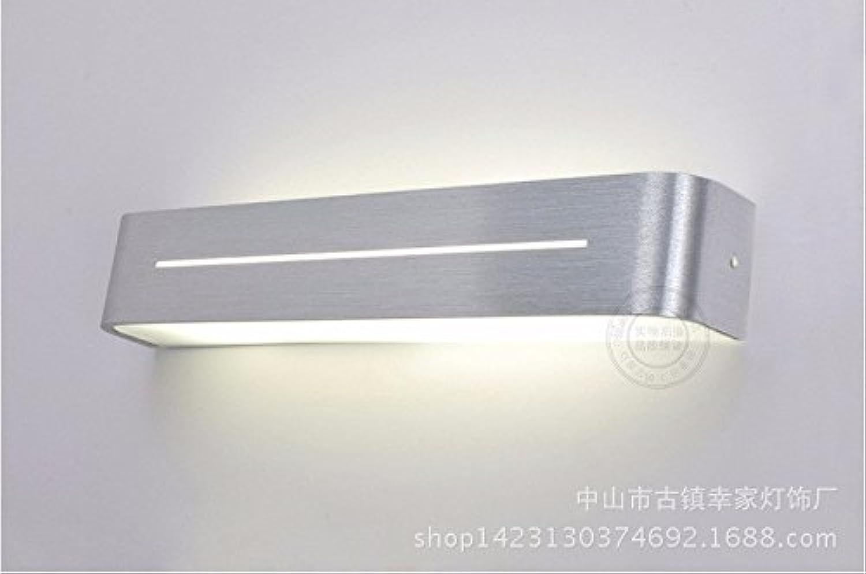 StiefelU LED Wandleuchte nach oben und unten Wandleuchten Glas Front-LED-Feuchtigkeit resistent Acryl Badezimmer Wand Leuchten, 48 cm - warmes Licht