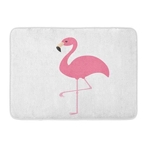 Alfombrillas Alfombras de baño Alfombrilla para exteriores / interiores Silueta roja Flamenco rosado Exótico Pájaro tropical Zoo Colección de animales Personaje de dibujos animados lindo Bebé plano D
