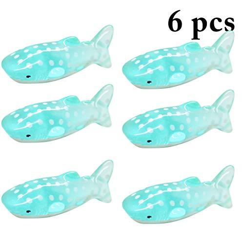 JUSTDOLIFE 6 Stks Leuke haai Miniatuur Ornament voor Tuin Aquarium Micro Landschap Ornament