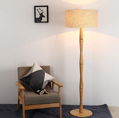 Stehlampe Moderne minimalistische Massivholz Stehlampe Wohnzimmer Schlafzimmer Hotel Stehlampe Holz Stehlampe Standleuchten