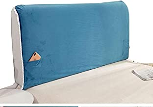 Cover Bed Headboard Stretch Protector Solid Color All-Inclusive Dustproof Backrest for Wood Leather Headboards Bedroom Dec...