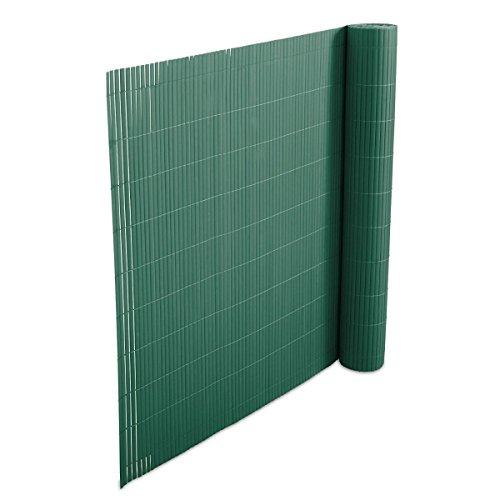 casa pura Recinzione Frangivista Giardino 100x300 cm Verde Vari Colori e 7 Misure Canniccio Frangivento in PVC Anti-Muffa