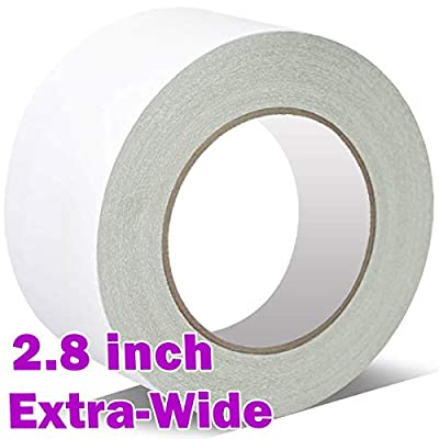 """Double Sided Carpet Tape for Area Rugs 2.8"""" x 10 Yards, Better Fixation! for Rug Gripper, Hardwood Floors Carpets, Outdoor Rugs,Multi-Purpose Rugs. Anti Slip,Fix Easy & Remove Without Stain."""