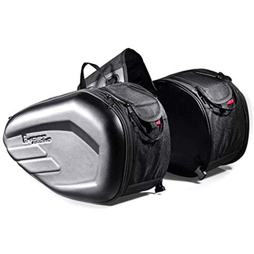 TFACR Wear-Resistant Motorcycle Side Bag - 2 Pcs Waterproof Motorbike Saddle Bag, Autobike Tool Bag for Travel/Camping