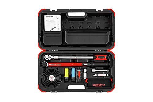GEDORE red Rad-Montage-Set im Kunststoffkoffer, Drehmomentschlüssel 40-200 Nm