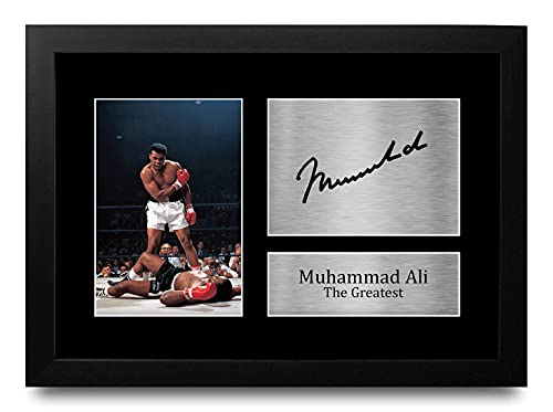 HWC Trading Voor Muhammad Ali Signed Gifts A4 Gift Printed Boxing Autograph Ontworpen Display Druk Foto Photo