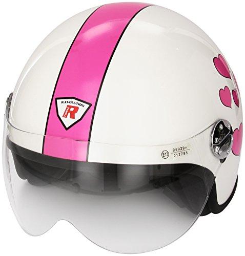 Bottari Motorradhelm My Love, Shine White, Größe XL