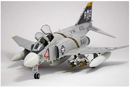 1/48 USN F-4J VF-84 Jolly Rogers 12305 with 3 Lifelike Pilot Figures - Plastic Model Kit by ACADEMY