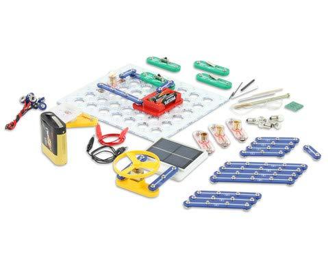 Betzold 81937 - Experimentierkasten Elektrischer Strom 56 Bauteile inkl. Zubehör - Lernbaukasten Elektronik-Baukasten Kinder Experimente