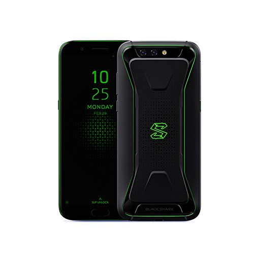 "Xiaomi Black Shark SKR-H0 (64GB + 6GB RAM) 6.0"", Snapdragon 845, Liquid Cooled, Dual Cameras, 4G LTE Dual SIM GSM Unlocked Gaming Smartphone - International Global Version (Black)"