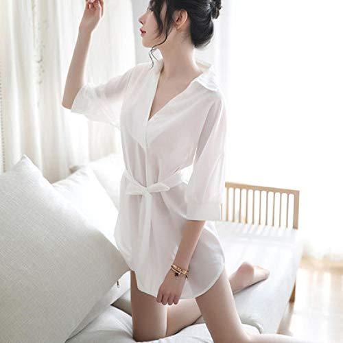 Gdofkh Sexy nightdress transparent shirt pajamas home service suit