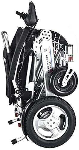 Silla de ruedas Silla de ruedas eléctrica inteligente Silla de ruedas eléctrica Scooter de cuatro ruedas de alta gama Marco de aluminio ligero Motor sin escobillas plegable Silla de ruedas elé