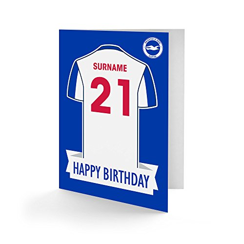 Official Personalised Brighton & Hove Albion FC Shirt Birthday Card