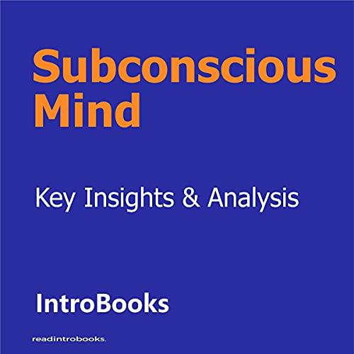 Couverture de Subconscious Mind