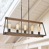 wood and metal kitchen island - LOG BARN Kitchen Light Fixtures Ceiling, 5-Light Rustic Chandelier, Farmhouse Chandelier, 30.5