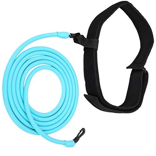 DAUERHAFT Tubo de látex Natural Equipo Auxiliar Cuerda de Resistencia Conveniente, para Equipos auxiliares de natación(Blue)