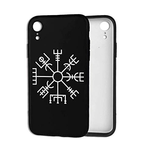 Leonsense Viking Symbol Nordic Compass Snapback Custodia per Telefono Nera Compatibile con iPhone 12/12Pro Max 11 11 PRO Max XR XS SE 2020/7/8 6/6s Plus Samsung Huawei LG Caso