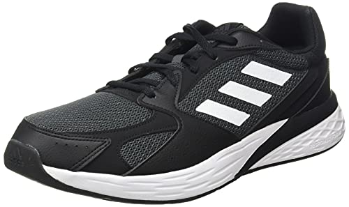 adidas Response Run, Road Running Shoe Hombre, Core Black/Cloud White/Grey, 44 EU