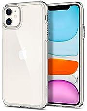Spigen iPhone 11 ケース 6.1インチ 対応 クリアカバー 米軍MIL規格取得 耐衝撃 カメラ保護 衝撃吸収 全面 PC TPU 二層構造 Qi充電 ワイヤレス充電 アイフォン11ケース シュピゲン ウルトラ・ハイブリッド 076CS27185 (クリスタル ・クリア)