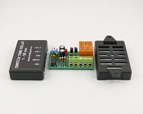 Onekool 9D-N0FO-91ZV Timer Switch Time Relay 1 To 50 Sec Delay On Switch 12V HK1581