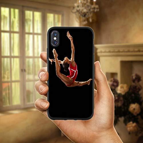 HANSHUOLa Gymnastique Balance Faisceau Doux TPU Silicium téléphone Portable Cas Couvrir pour iPhone 8 7 6 6 S Plus X XR XS Max 10 5 5S Se 4 4S Sacs