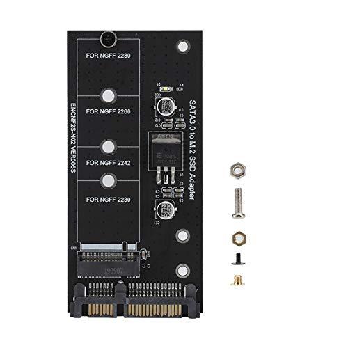 Socobeta Tarjeta adaptadora M.2 NGFF SSD a SATA 22PIN Disco Duro Rendimiento...