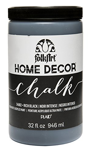FolkArt 34882 Home Decor Chalk Furniture & Craft Paint in Assorted Colors, 32 ounce, Rich black