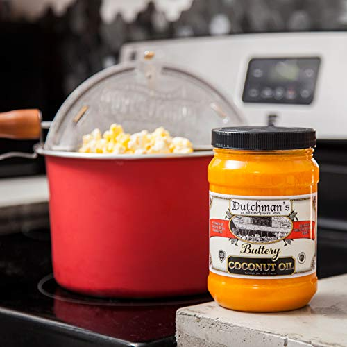 Product Image 2: Dutchman's Popcorn Coconut Oil Butter Flavored Oil, 30oz Jar – Colored with Natural Beta Carotene, Makes Theater Style Popcorn, Top Rated, Vegan, Healthy, Zero Trans Fat