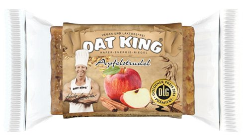 Oat King Energy Bar Haferriegel Langkettige Kohlenhydrate Vegetarisch Laktosefrei Vegan Protein 10x 95g (Cappuccino)