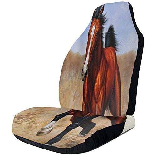 Joe-shop Autostoelhoes Running Horse Grassland Bucket Seat Protector Universele flexibele voorstoelhoes