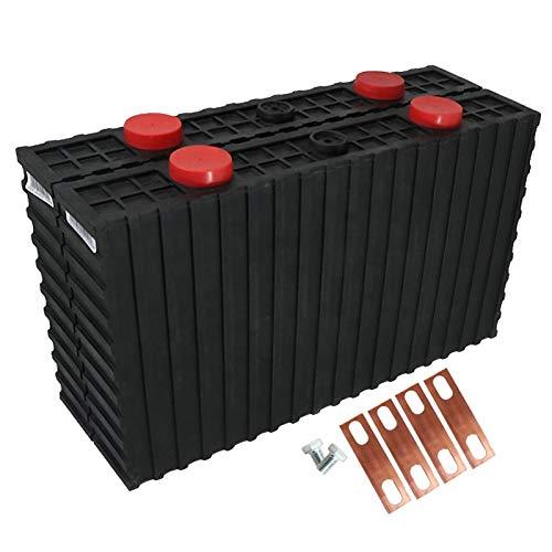 LeiQuanQuan 3.2V 500AH Paquete de batería Profundo de la batería de Litio prismática 12V para el Sistema de energía del Sistema Solar EV RV E-Bike + BUSBARS YH (Size : 4pcs)