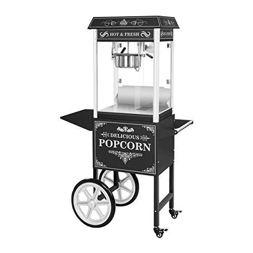 Royal Catering Machine À Pop Corn Professionnelle Appareil Popcorn Pop-Corn Professionnel Avec Chariot RCPW.16.2 (1600W, 5kg h   16l h, Marmite ø 18,5 cm (haut), Revêtement Téflon, Utilisation Mobile)