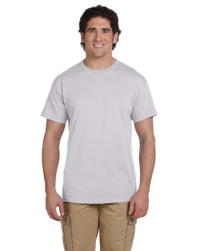 Hanes 5.2 oz., 50/50 ComfortBlend EcoSmart T-Shirt (5170) Pack of 3- LIGHT STEEL,XL