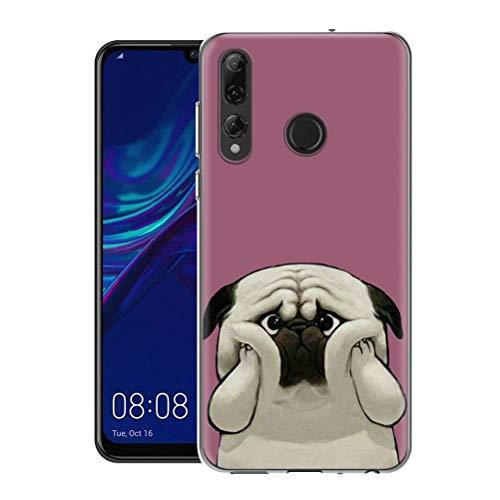 Pnakqil Caso Telefono per Huawei P Smart Plus 2019 / Enjoy 9s Cover,Morbido Silicone TPU Trasparente Ultrasottile Anti-Caduta Antiurto Impermeabile per Huawei P Smart Plus 2019 / Enjoy 9s,Cane 03