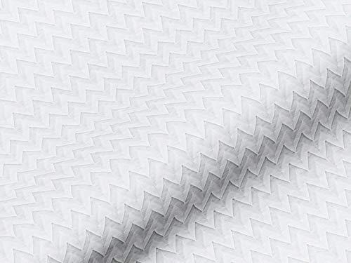 Tela decorativa cortina de plástico Cortina Plástico Origami Zick Zack Metro Color Crema Diseño para cortinas, cortinas, cojines y más, opaca, deja pasar la luz, no inflamable