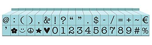 Kontakt USA cu-07090pegz Anschließbare Symbole und Zahlen Stempel Set, klein, Pool blau